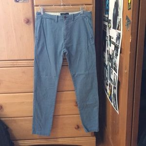 Sky Blue Skinny Chino Pants Abercrombie & Fitch